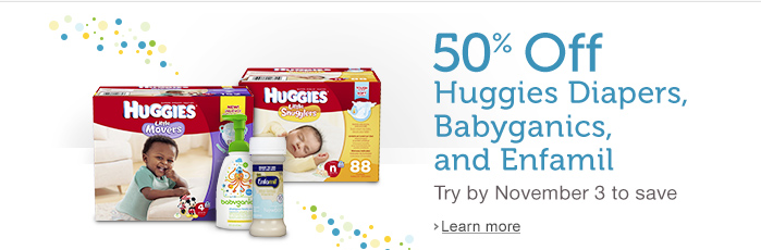 HOT!  Amazon Mom: Join By November 3rd & Get 50% Off First Diapers, Babyganics & Enfamil Purchase + FREE 2-Day Shipping for 30 Days