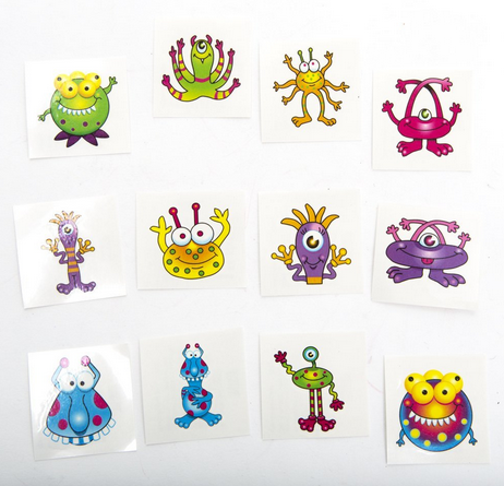 72 Monster Tattoos Only $6.10 (Perfect for Halloween!)