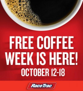 Score a FREE coffee from Race Trac stores today!