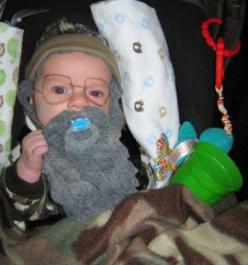 Duck Dynasty baby costume.