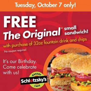 Score a FREE sandwich today! Yum!