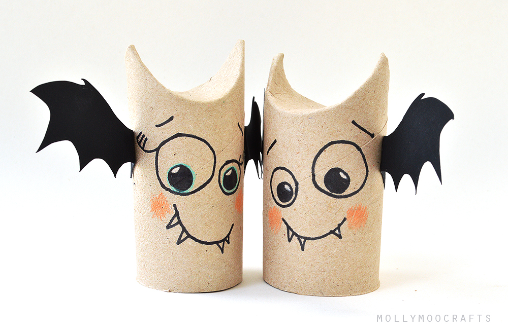 toilet roll bat friends - Bat Halloween Decorations