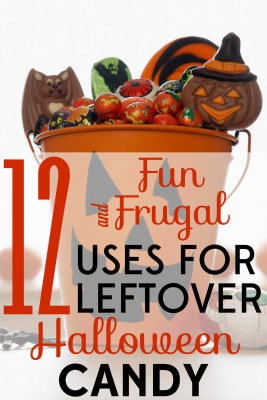Looking for a way to keep that leftover Halloween candy from going to waste? These 12 fun and frugal Halloween candy uses are the answer.