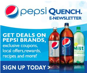Pepsi Quench Newsletter: Coupons, Recipes, and More!
