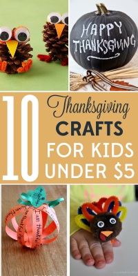 These 10 Thanksgiving crafts for kids are the perfect addition to your holiday dinner. Even better, they're all $5 or less!