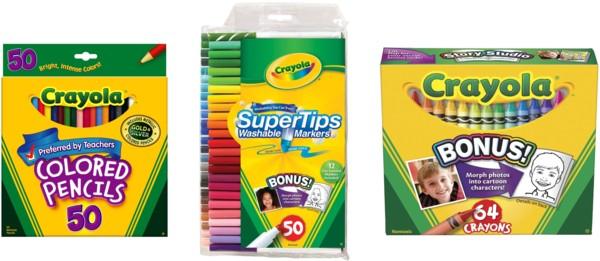 50% off Crayola Products!