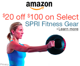 $20 Off $100 on Select SPRI Fitness Gear!