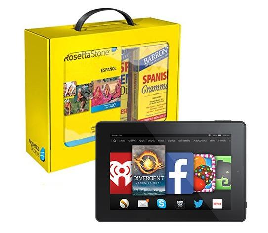 Save $369 on Rosetta Stone & Fire HD 7 Bundles!