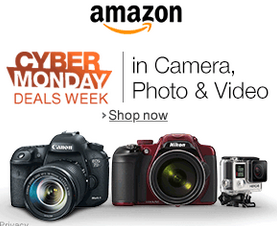 Cyber Monday Deals in Camera, Photo & Video on Amazon!