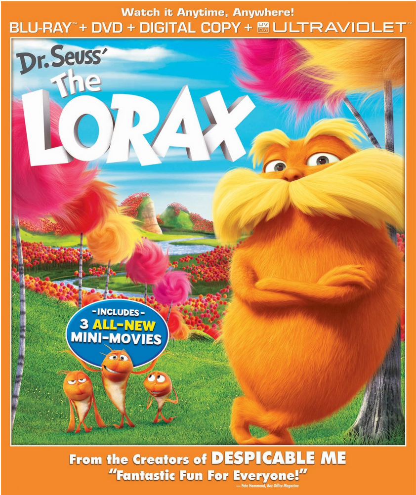 Dr. Seuss' The Lorax Blu-ray + DVD With Plush Under $8!