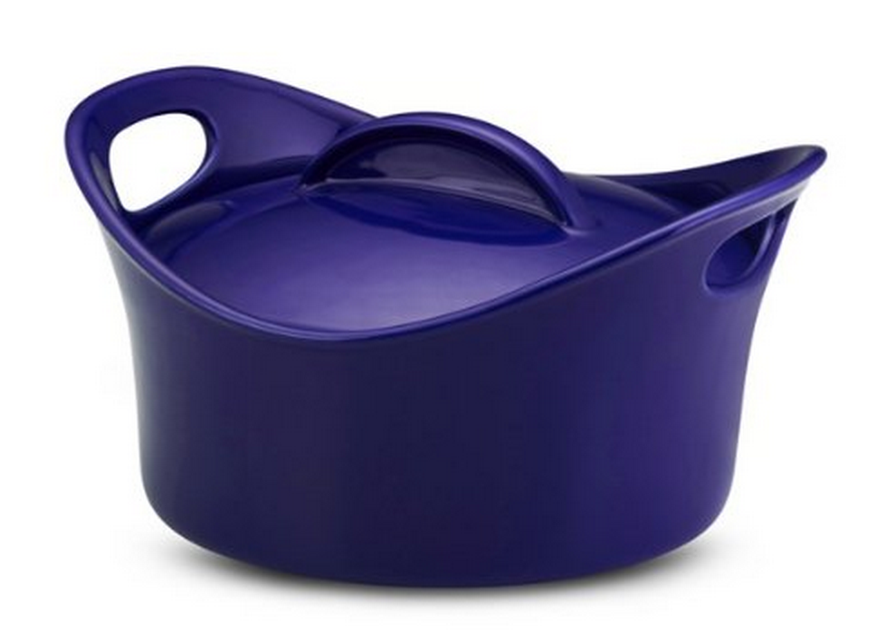 Rachael Ray Stoneware Covered Bubble and Brown Casserround Casserole Only $27.99!