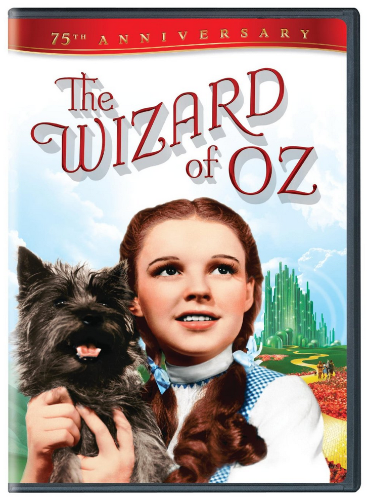 The Wizard of Oz 75th Anniversary Edition DVD Only $3.99 or Blu-Ray $7.99!