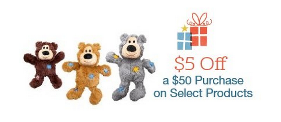 HOT! $5 Off $50 Pet Food, Treats, Apparel, or Pet Toy Purchase!