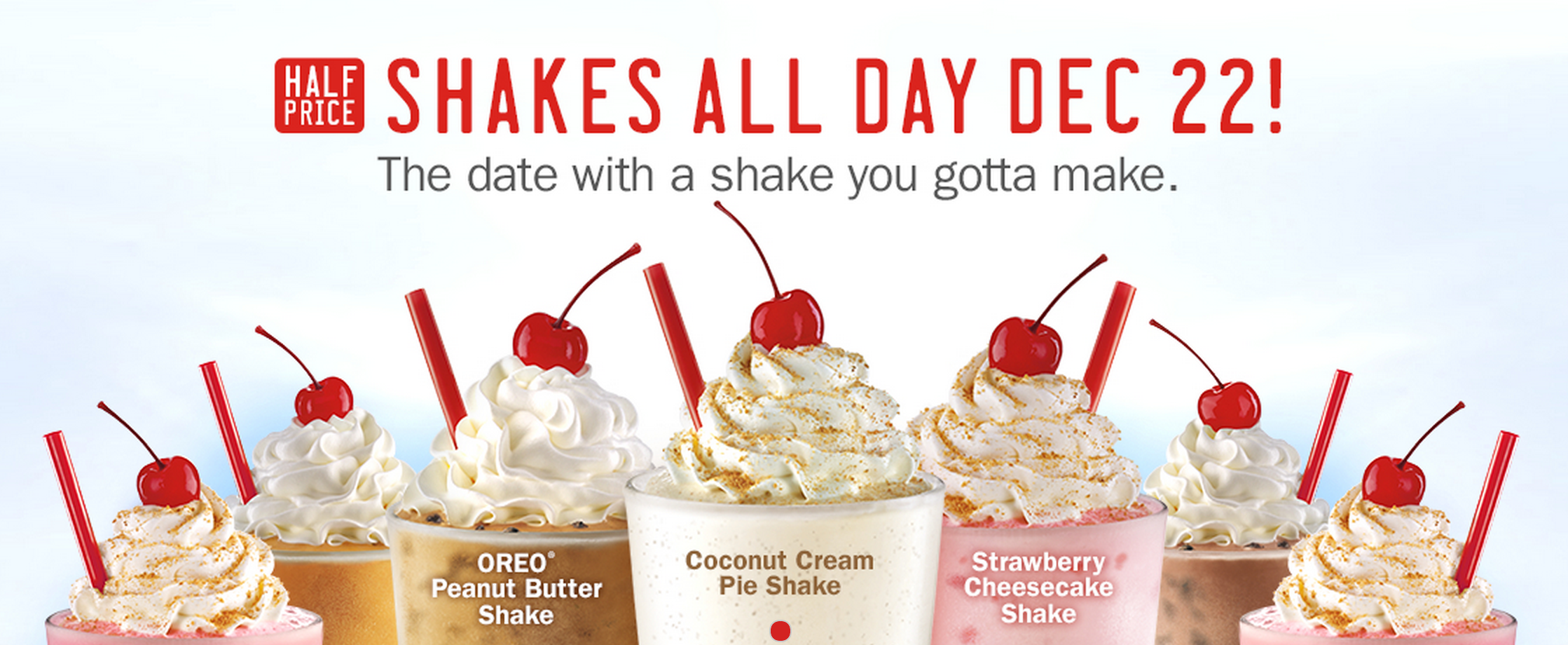 Monday Freebies – Half Price Shakes at Sonic