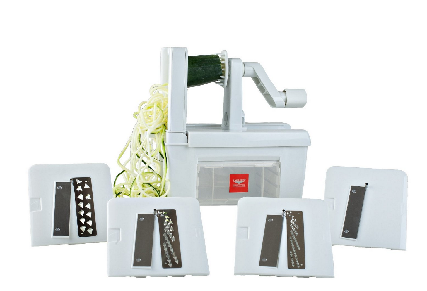Highly Rated Paderno World Cuisine Spiralizer Pro with 4 Blades Only $34.95 (reg. $59.95!)
