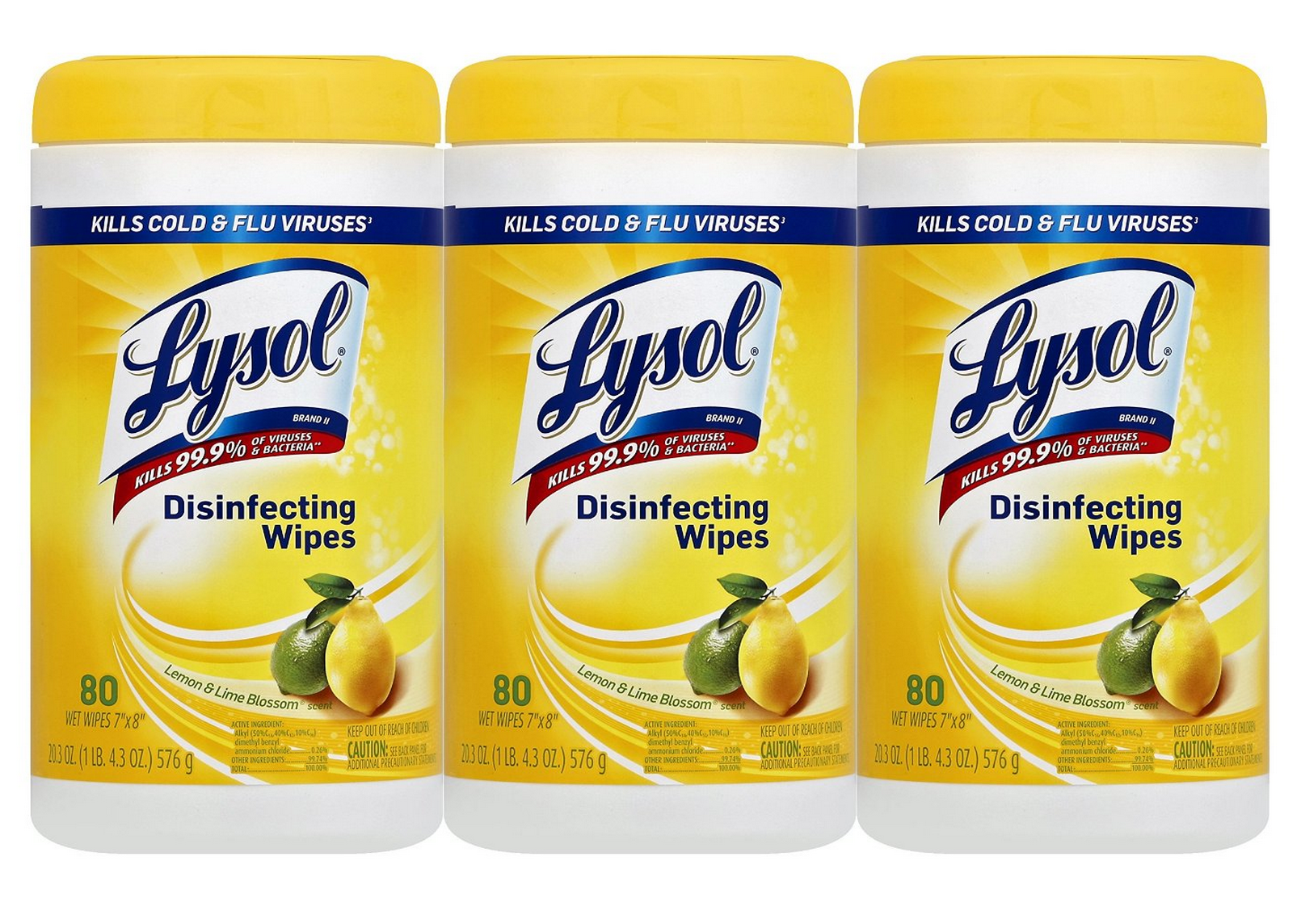 Three Large Canisters of Lysol Disinfecting Wipes Only $7.48 Shipped – Just $2.49 Each!