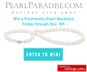 PearlParadise.com Giveaway: Win a White Freshwater Pearl Necklace!