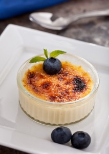 Score FREE creme brulee today. Yum!