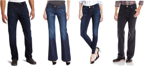 HOT! 50% Or More Off 7 for All Mankind Denim on Amazon!