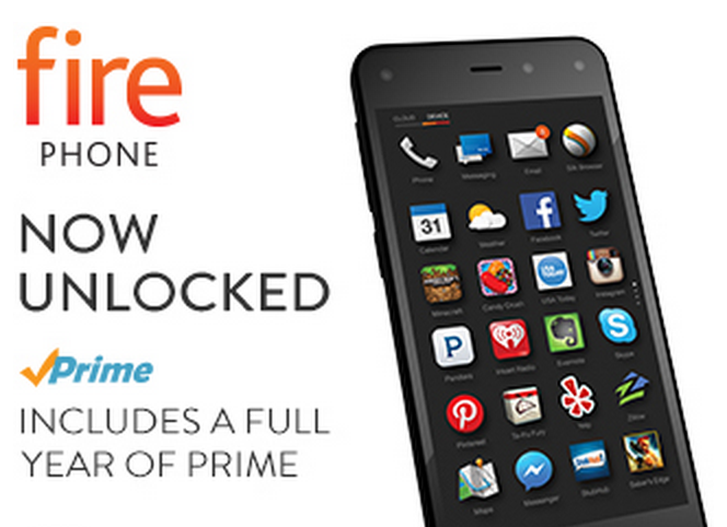 Amazon Fire Phone 32B – Unlocked GSM + One FREE Year of Amazon Prime Just $189 (Reg. $449!)