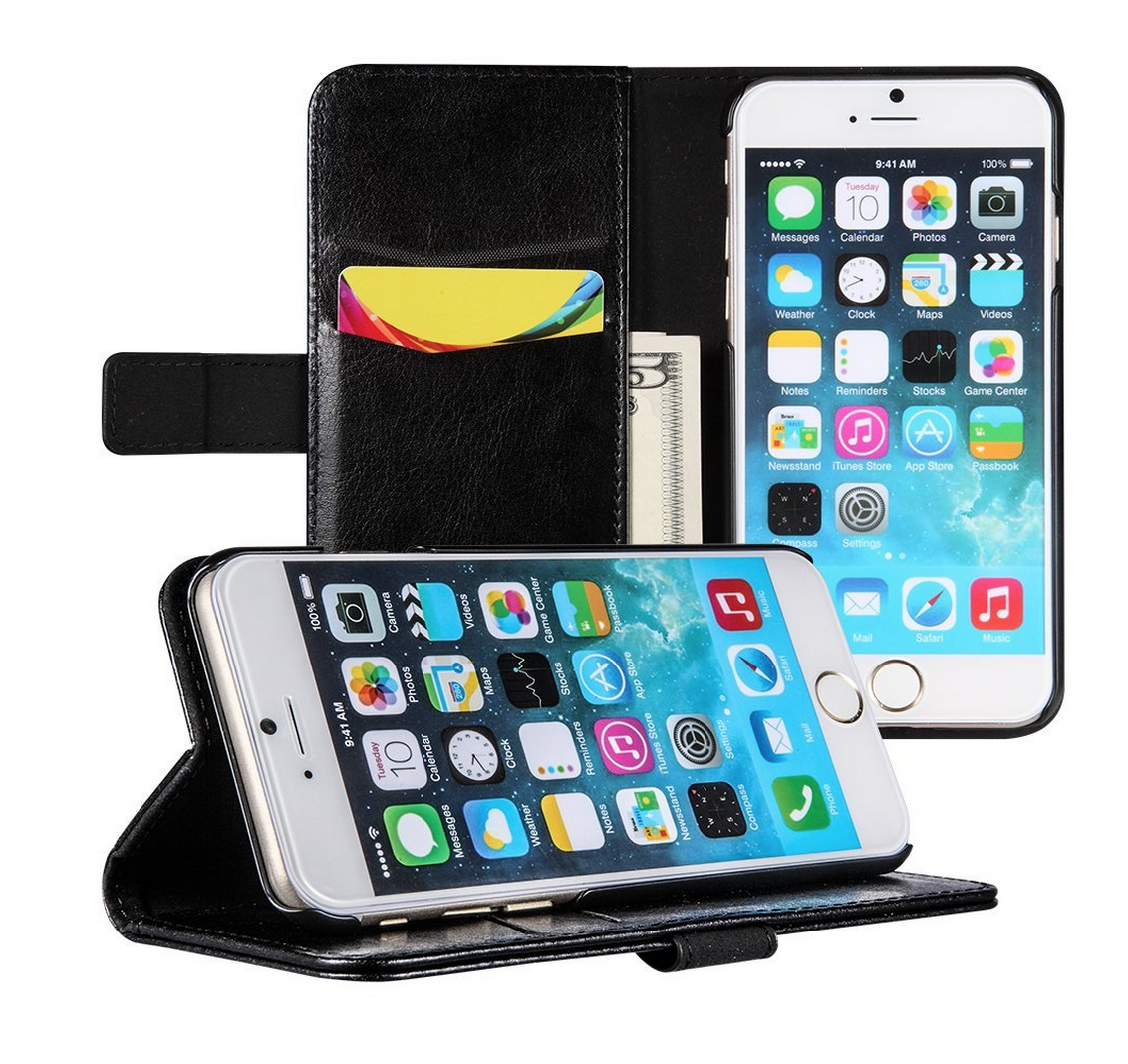 EasyAcc® iPhone 6 Leather Wallet Case Only $7.99 (Reg. $29.99!) + FREE USB Travel Wall Charger!