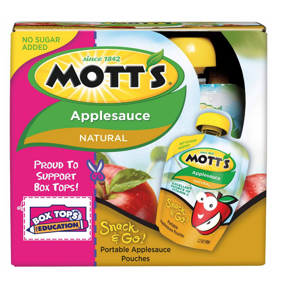 Mott's Snack & Go Applesauce, Natural, 4 Count (Pack of 6) Only $11.34 Shipped!