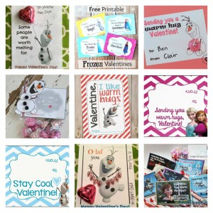 Download these 8 FREE Frozen Valentine's Day Cards today!