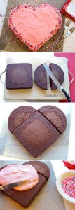 How to make a heart cake