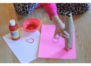 Paper dowel hearts