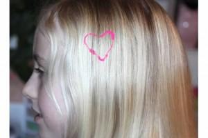 Hair paint heart