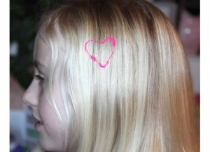 Hair paint heart