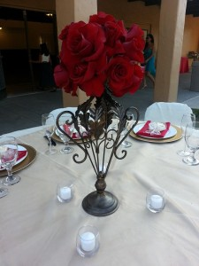 Wedding centerpieces - after