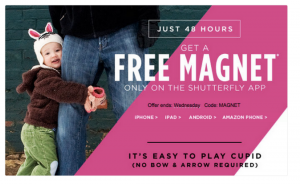 Score a FREE photo magnet from Shutterfly today.