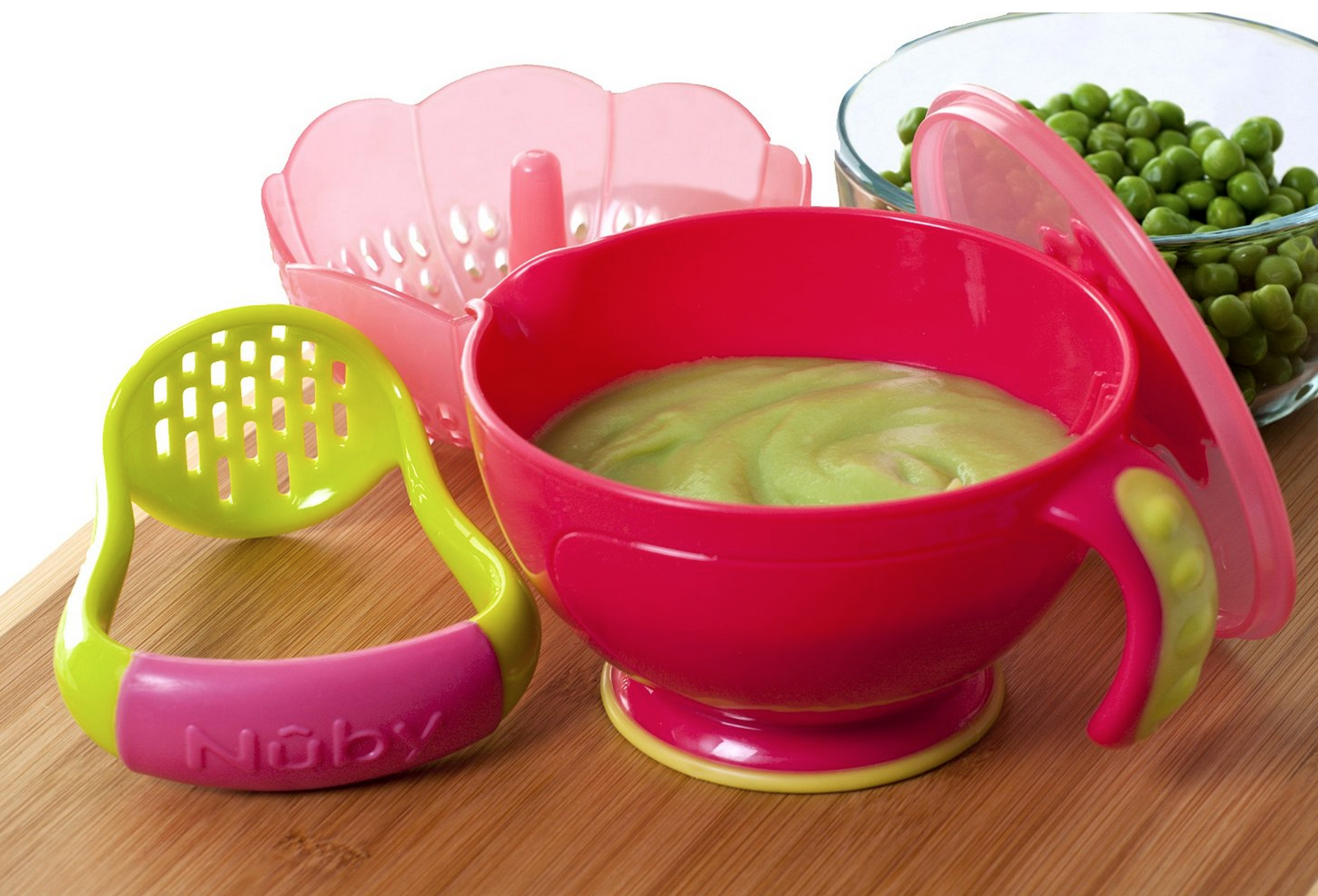 Nuby Garden Fresh Steam N' Mash Baby Food Prep Bowl and Food Masher Only $7.99 (Reg. $9.99!)