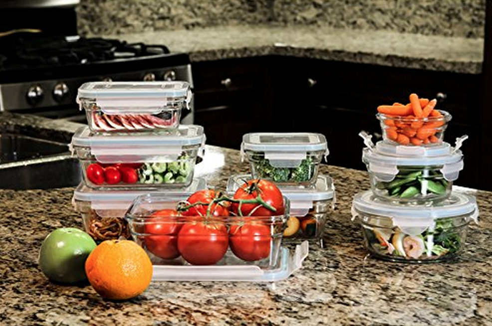 Highly Rated Glasslock 18-Piece Assorted Oven Safe Container Set Only $29.37 – Lowest Price!