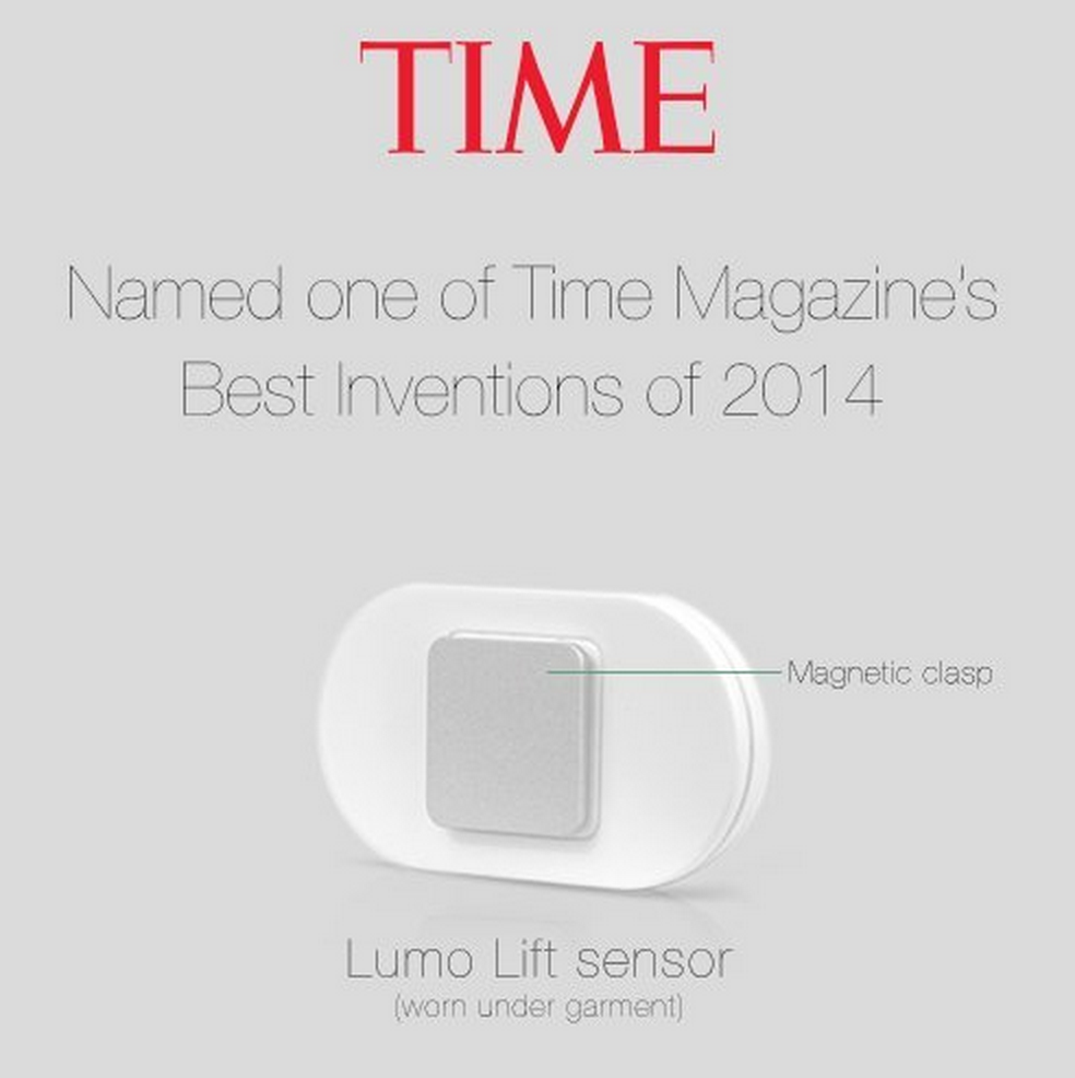 Lumo Lift for iOS – Posture and Activity Tracker Only $69.99 (Reg. $99.99!) – TIME Magazine Best Invention