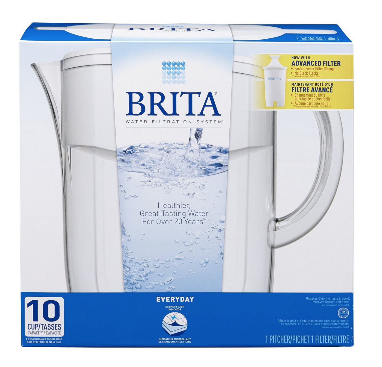 Brita 10-Cup Everyday Water Filter Pitcher Only $22.99 (Reg. $41.39!)