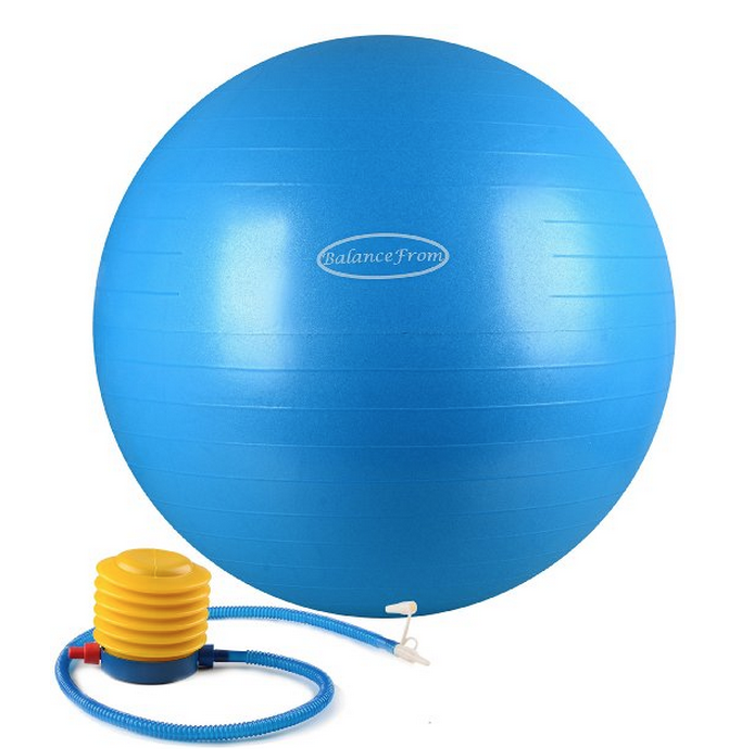 Balance Form Anti-Burst & Slip Resistant Fitness Ball w/Pump Only $15.95 (Reg. $29.99!)