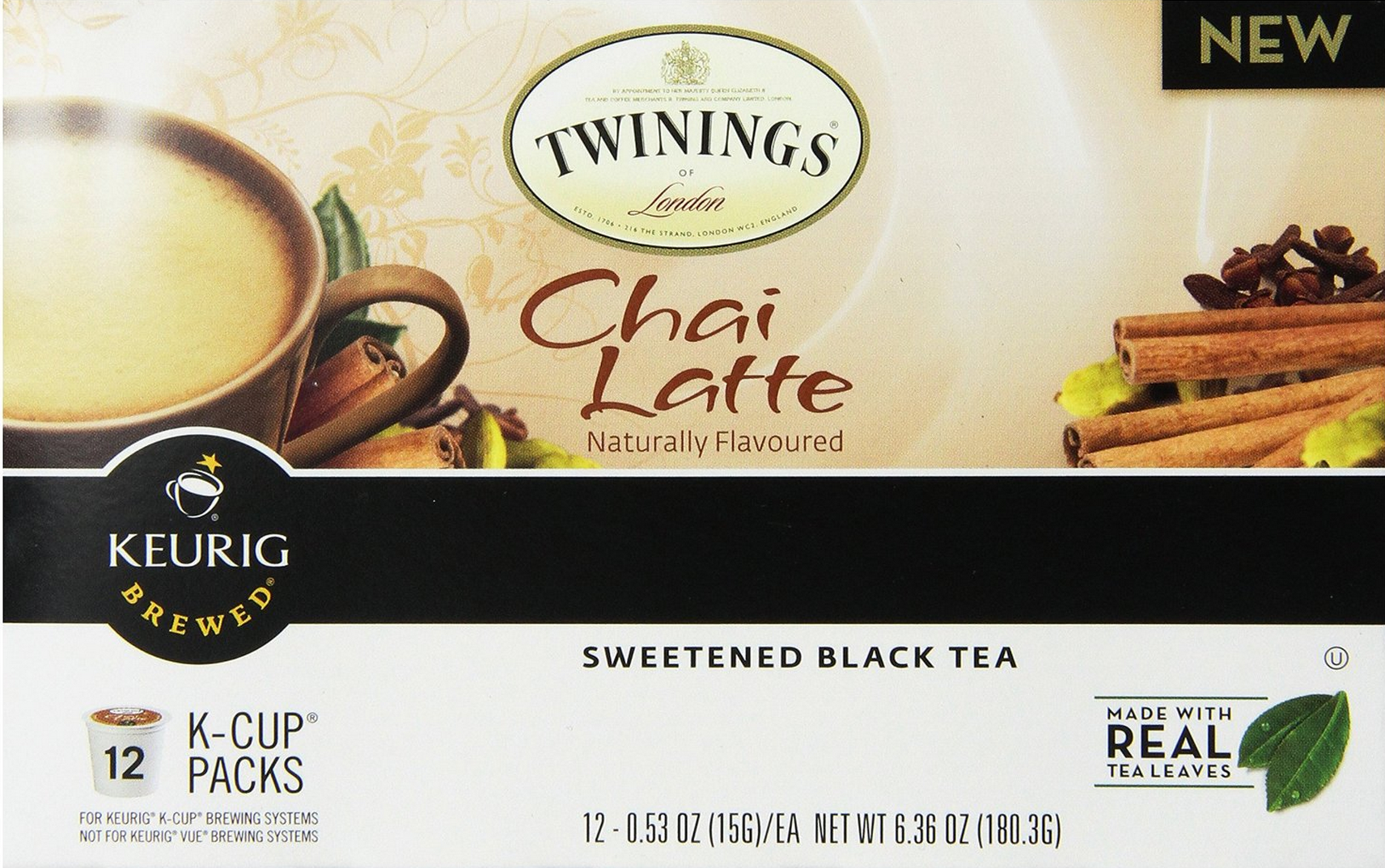 Highly Rated Twinings Chai Latte K-cups, 12 Ct. Only $7.50 – Just 63¢ Per Cup!