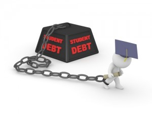 Are you chained to your student loan debt! Learn the best way to pay back your loans today. Via Shutterstock.