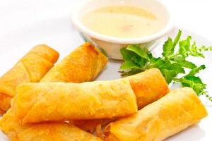 Grab a FREE egg roll today. Yum! Via Shutterstock.