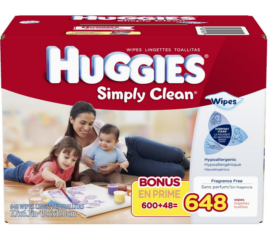 648-Count Box of Huggies Simply Clean Baby Wipes Refill Only $9.37 Shipped!