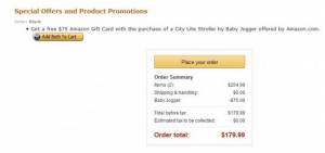 HOT! Free $75 Amazon Gift Card With Stroller Purchase!