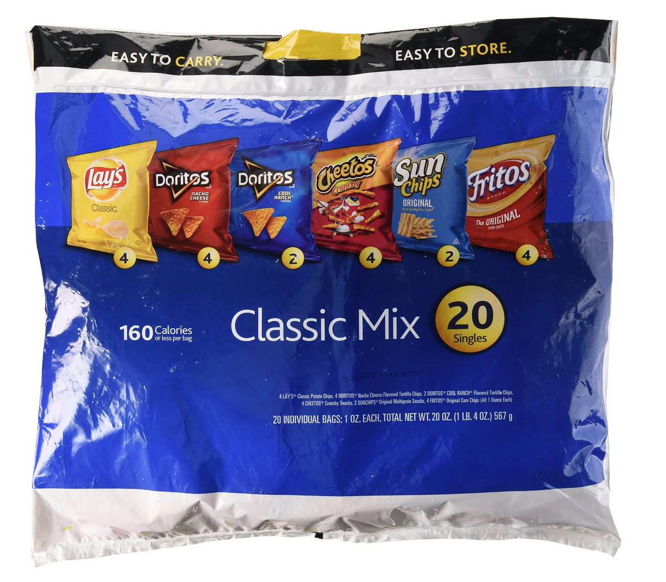 20-Ct. Frito-Lay Chips Classic Multipack Only $5.38 – Just 27¢ Per Bag!