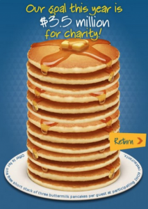 Score a FREE short stack of pancakes at IHOP today!