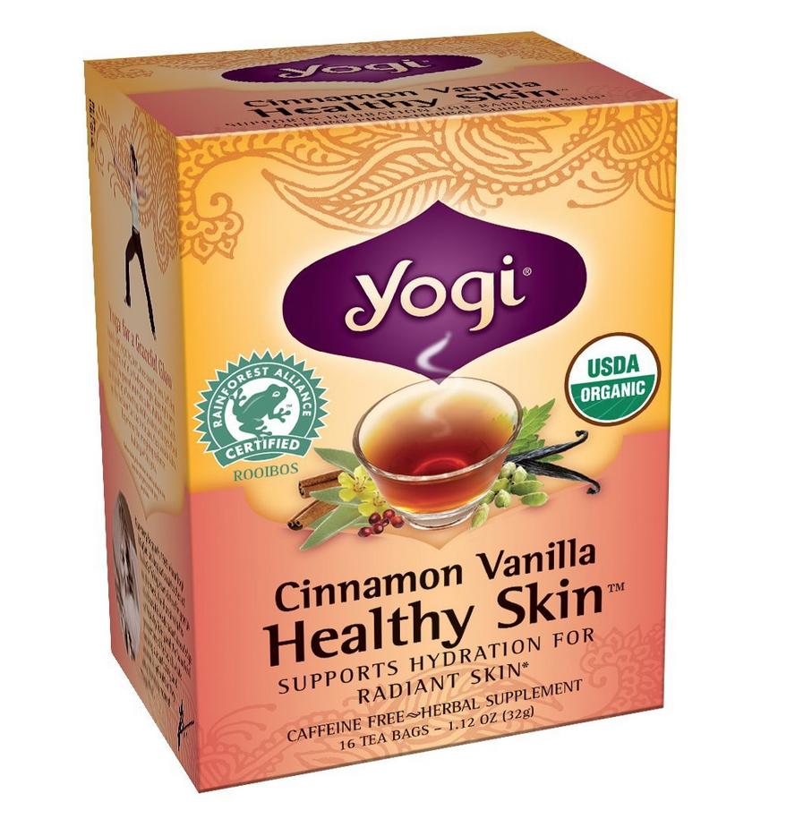 16 Ct. Yogi Cinnamon Vanilla Healthy Skin Tea Only $3.22!