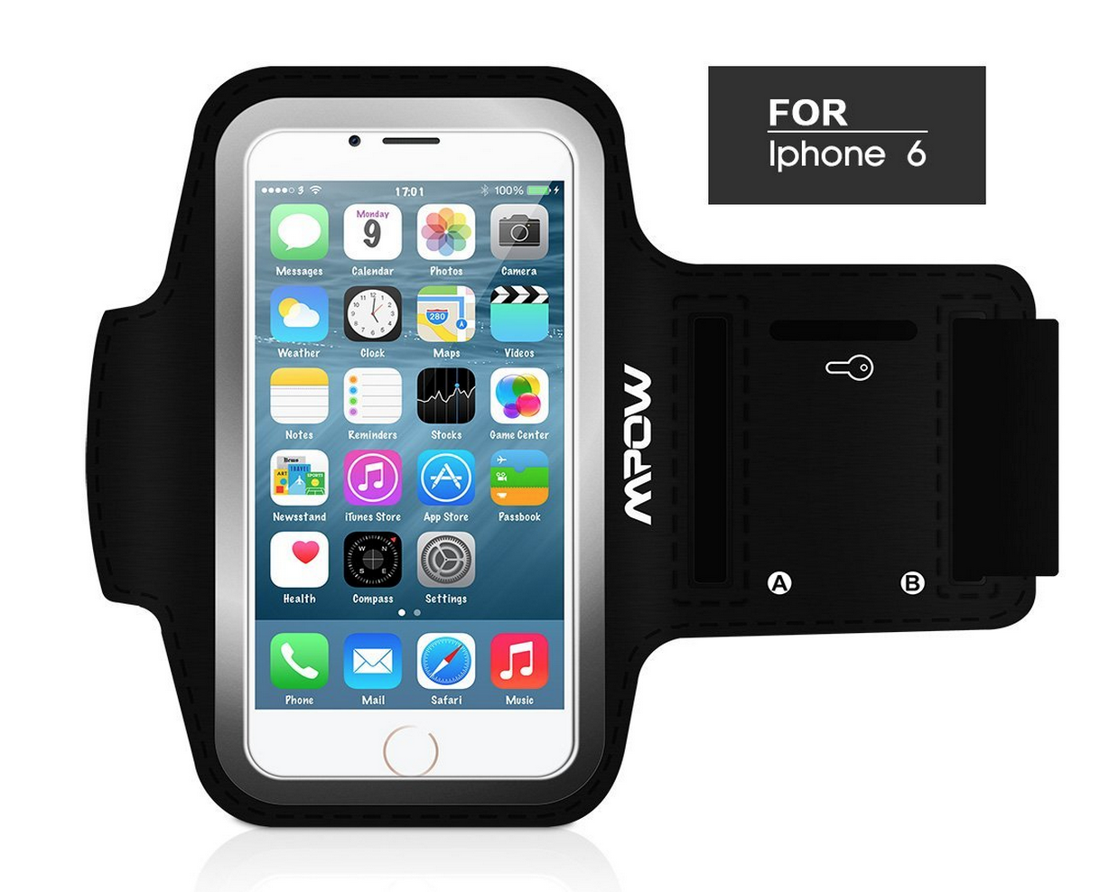 Mpow® Running Sport Sweatproof Armband Case + Key Holder for iPhone 6 Only $7.99 (Reg. $11.99!)