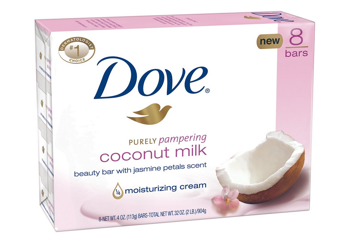 8-Pack of Dove Purely Pampering Beauty Bar Coconut Milk with Jasmine Petals Only $6.97!