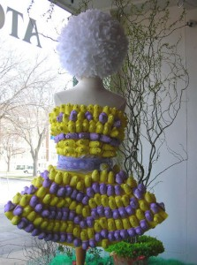 Peeps dress via I Love to Sew
