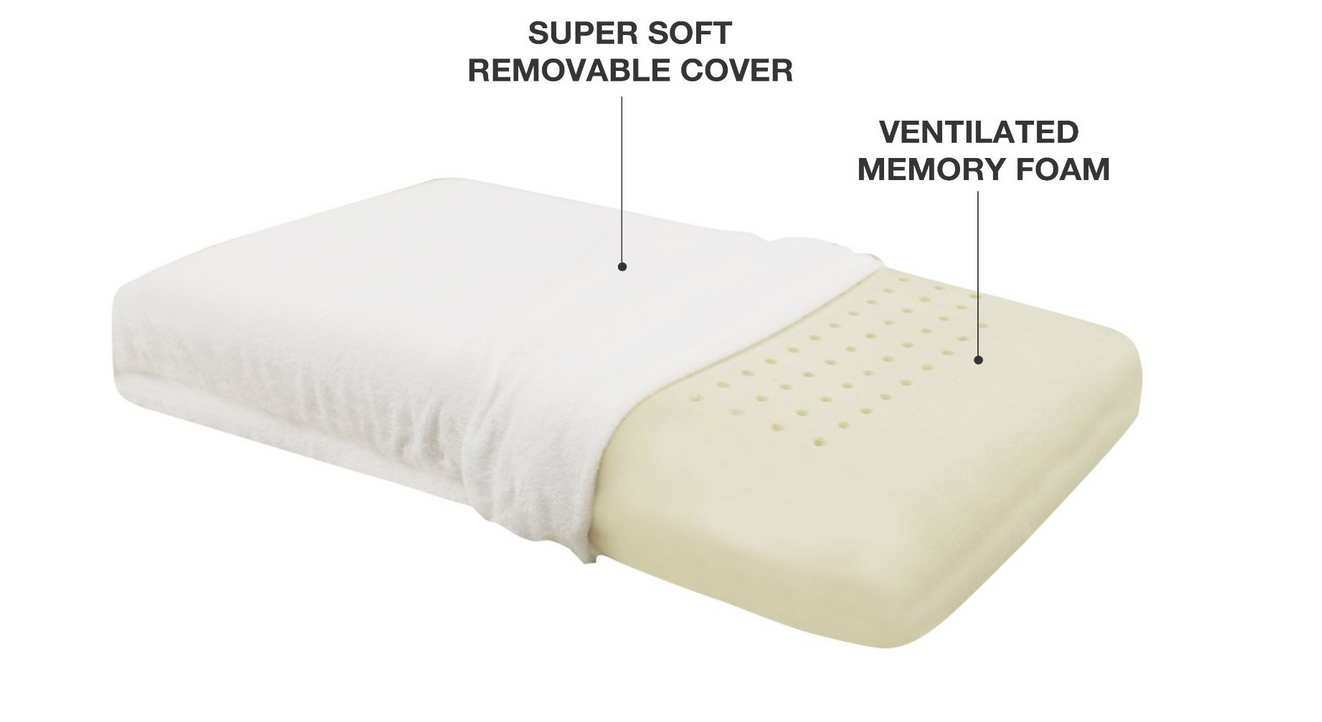 Classic Brands Conforma Memory Foam Pillow Full Size Bed